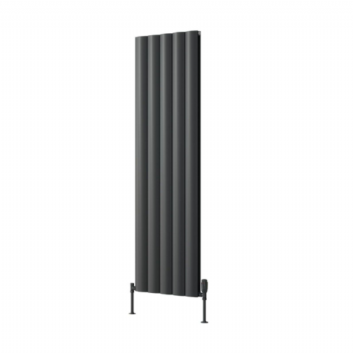 Reina Belva Single Horizontal Designer Radiator - 600mm High x 1244mm Wide - Anthracite